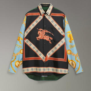 BURBERRY - Burberry アーカイブスカーフプリントシルクシャツ