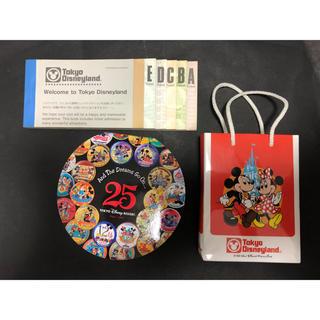 Disney - ディズニー ランド 25周年 メモ セット