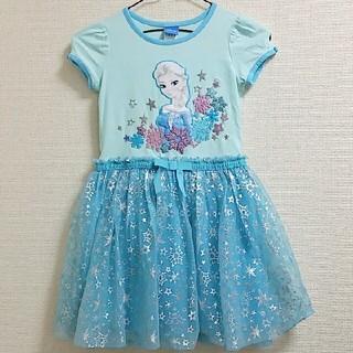 ディズニー(Disney)の美品!エルサ★ワンピースドレス 女の子 ハロウィン パーティー(ドレス/フォーマル)