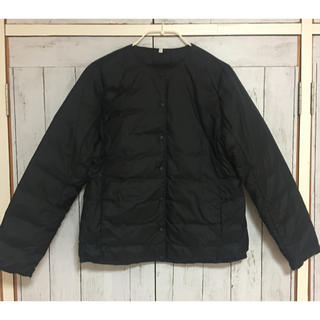 MUJI (無印良品) - 未使用   無印良品 ノーカラーダウンジャケット