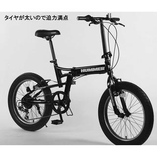 194. 極太3.0タイヤ 折りたたみ式 自転車 20インチ ブラック(自転車本体)