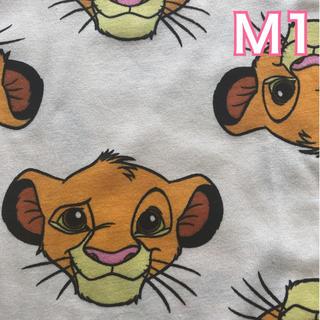 ディズニー(Disney)の【NEW】白M1 シンバ 総柄 Tシャツ(Tシャツ(半袖/袖なし))