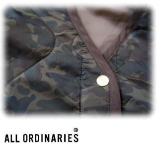 オールオーディナリーズ(ALL ORDINARIES)の*オールオーディナリーズのカモフラ(迷彩)柄なキルティングジャケット(ノーカラージャケット)