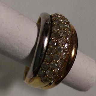 プラチナ、k18コンビ パヴェリング 1.01カラット (リング(指輪))