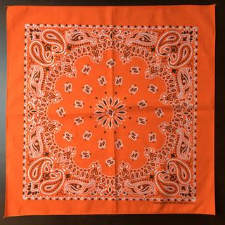 ハバハンクhavahank米国製バンダナ☆ペイズリーorangeオレンジ(バンダナ/スカーフ)