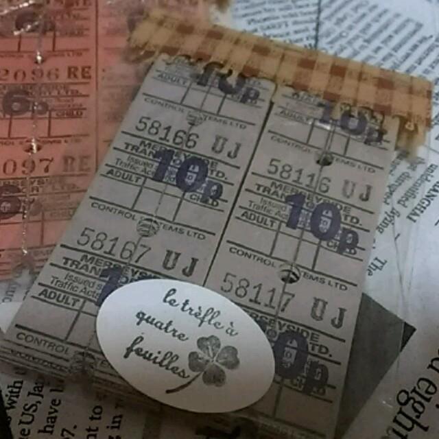 古キップ アンティーク グレー  ハンドメイドの素材/材料(その他)の商品写真