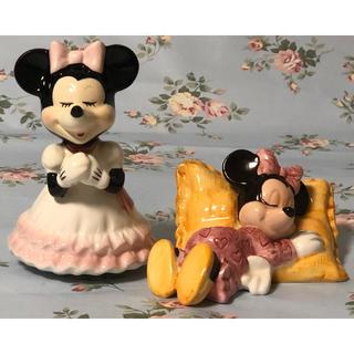 ディズニー(Disney)の( レア・美品 )Disney  ミニーマウス  オルゴール & 貯金箱(オルゴール)