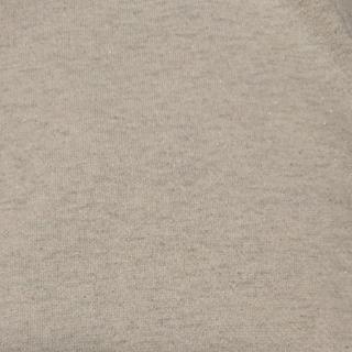 couleureクルール ラメ入り裏毛ニット+リブニット  杢オートミール
