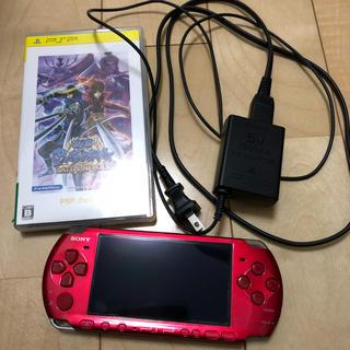プレイステーションポータブル(PlayStation Portable)のPSP 3000 ラディアント・レッド ゲーム、メモリーカード付(携帯用ゲーム本体)