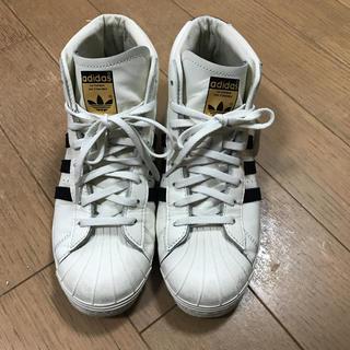 アディダス(adidas)の連休中値下げ!アディダススーパースター ハイカット 24.5(スニーカー)