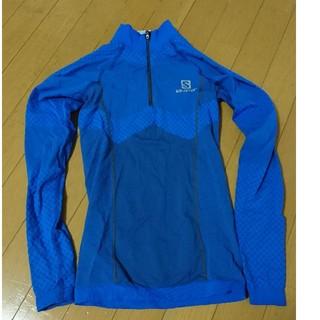 サロモン(SALOMON)のサロモンジップアップシャツ ロング 冬用 ブルー サイズS(その他)