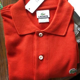 ラコステ(LACOSTE)のラコステ オレンジ レッド ポロシャツ  S XS サイズ(ポロシャツ)