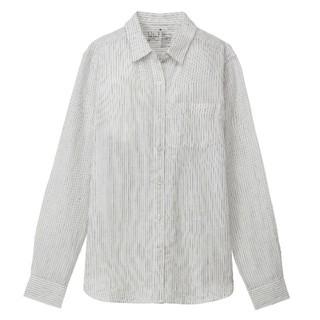 ムジルシリョウヒン(MUJI (無印良品))の無印良品 フレンチリネン ストライプシャツ(シャツ/ブラウス(長袖/七分))