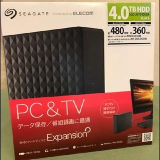 エレコム(ELECOM)の新品 SHIGAT ELECOM 4TB HDD(PC周辺機器)
