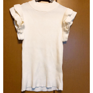 シマムラ(しまむら)の半袖❤️袖フリルニットトップス❤️しまむら(ニット/セーター)