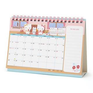 サンリオ(サンリオ)の★☆ハローキティ 卓上カレンダー 2019 M リングカレンダー サンリオ(カレンダー/スケジュール)