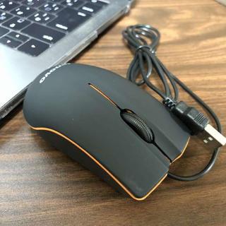 ☆小型で軽量☆ lenovo 有線 USB光学式 ミニ マウス ブラック(PC周辺機器)