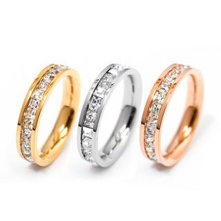 サイズ充実!光る!キラキラ スワロ 荒れない錆びない剥げない リング 指輪(リング(指輪))