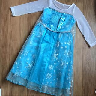 ディズニー(Disney)のエルサ ドレス☆90センチ☆難ありなのでお安く(ドレス/フォーマル)
