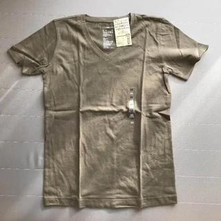 MUJI (無印良品) - 新品【無印良品】Vネック半袖Tシャツ カーキ