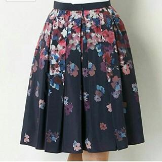 ジャスグリッティー(JUSGLITTY)のジャスグリッティー グラデフラワープリントスカート 花柄フレアスカート(ひざ丈スカート)