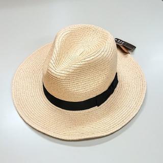 コネクト(connect)の新品 ベージュ 56.5~58.5cmフリー ペーパーフェドラハット 中折れ帽子(ハット)