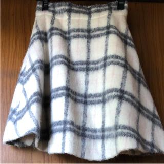 ジルバイジルスチュアート(JILL by JILLSTUART)のジルバイジルスチュアート シャギーチェック フレアースカート(ひざ丈スカート)