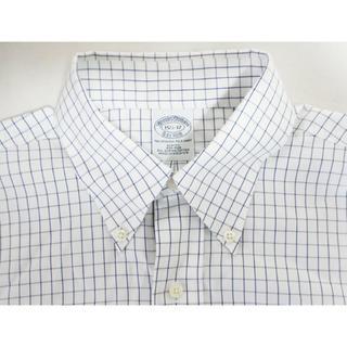 ブルックスブラザース(Brooks Brothers)のブルックスブラザース*チェックBDシャツ/ホワイトxネイビー15 1/2 32(シャツ)