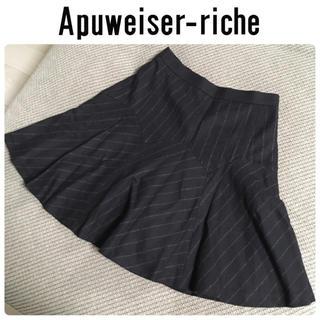 アプワイザーリッシェ(Apuweiser-riche)のアプワイザーリッシェ サーキュラースカート ウール素材(ミニスカート)