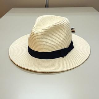コネクト(connect)の新品 オフホワイト 56.5~58.5cm ペーパーフェドラハット 中折れ帽子(ハット)