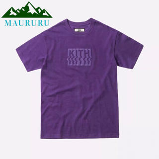 夏物セール‼️ KITH キス BOXロゴ ワープTシャツ パープル(Tシャツ/カットソー(半袖/袖なし))