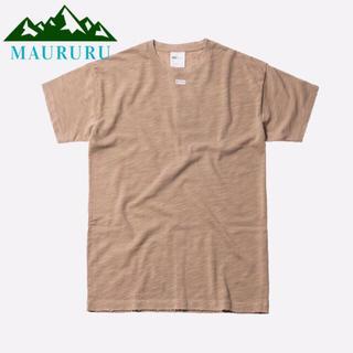 夏物セール‼️  KITH キス JFK BOXロゴ Tシャツ ベージュ(Tシャツ/カットソー(半袖/袖なし))
