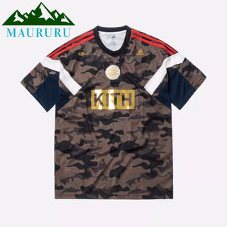 夏物セール‼️ KITH×adidas サッカー レイスTシャツ カモフラージュ(Tシャツ/カットソー(半袖/袖なし))