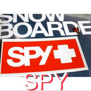 スパイ(SPY)のスパイ SPY US限定スノーゴーグル ORANGEバナー ステッカー オレンジ(アクセサリー)