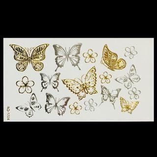 * まとめ割あり * 防水 タトゥーシール [ Butterfly-G&S ](その他)