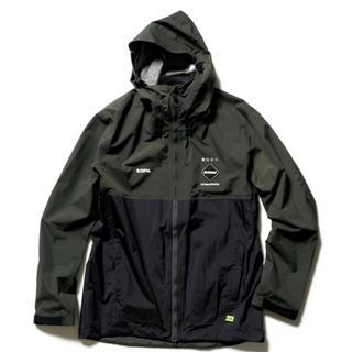 エフシーアールビー(F.C.R.B.)のfcrb rain  jaket レインジャケット s カーキ(ナイロンジャケット)