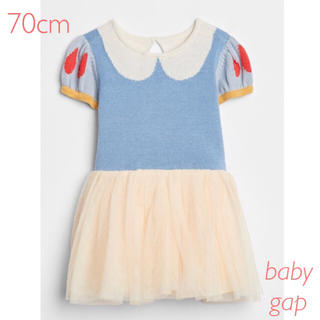 ベビーギャップ(babyGAP)の大人気♡ 新品 babygap 白雪姫 ニットワンピース♡ 6-12m 70(ワンピース)