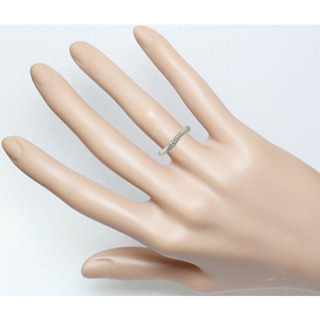 4℃(ヨンドシー)の4℃ ダイヤ Pt950 プラチナ リング 指輪 ウェーヴ 6号 レディースのアクセサリー(リング(指輪))の商品写真