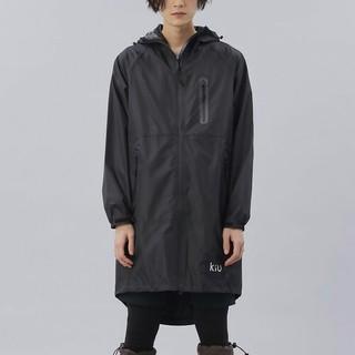 キウ(KiU)のkiu レインコート ブラック 男女兼用   新品タグ付き(レインコート)