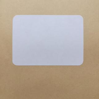 《上質ホワイト無地シール》長方形(角丸)型5×7cm40枚(カード/レター/ラッピング)