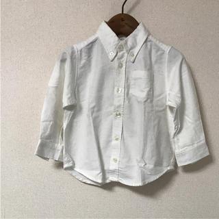 MUJI (無印良品) - 無印良品 白シャツ 90cm
