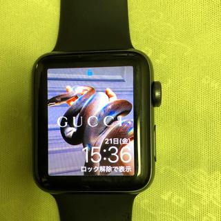 アップルウォッチ(Apple Watch)のApple Watch SERIES3 GPS +(腕時計(デジタル))