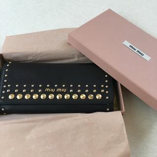 ミュウミュウ(miumiu)の美品 miumiu 長財布(財布)