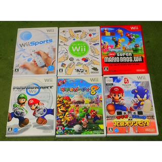 ウィー(Wii)のwii セット ソフト6本付き(家庭用ゲーム本体)