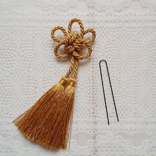 髪飾り 梅結び タッセル 結婚式 成人式(ヘアアクセサリー)