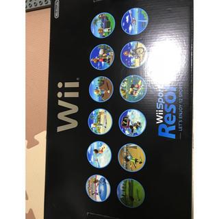 ウィー(Wii)のwii スポーツリゾートソフト コントローラー ヌンチャクセット付き(家庭用ゲーム本体)