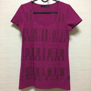 ヴァンドゥーオクトーブル(22 OCTOBRE)の美品☆《22OCTOBRE》ビジュTシャツ(Tシャツ(半袖/袖なし))