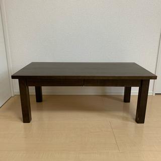 MUJI (無印良品) -  無印良品  天然タモ材引き出し付きローテーブル