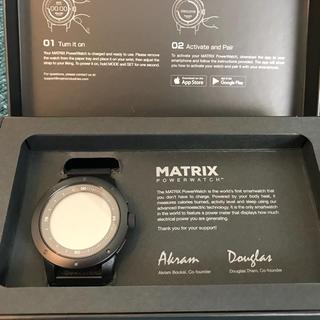 アイフォーン(iPhone)の新品◆体温で発電! MATRIX PowerWatchブラック グッドデザイン賞(腕時計(デジタル))