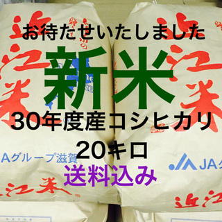 新米30年度産コシヒカリ20キロ